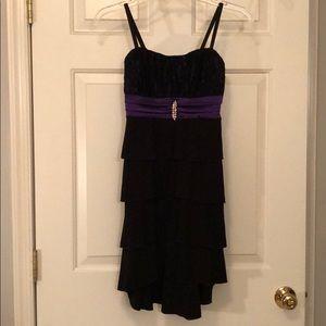 Black and Purple Fancy Dress